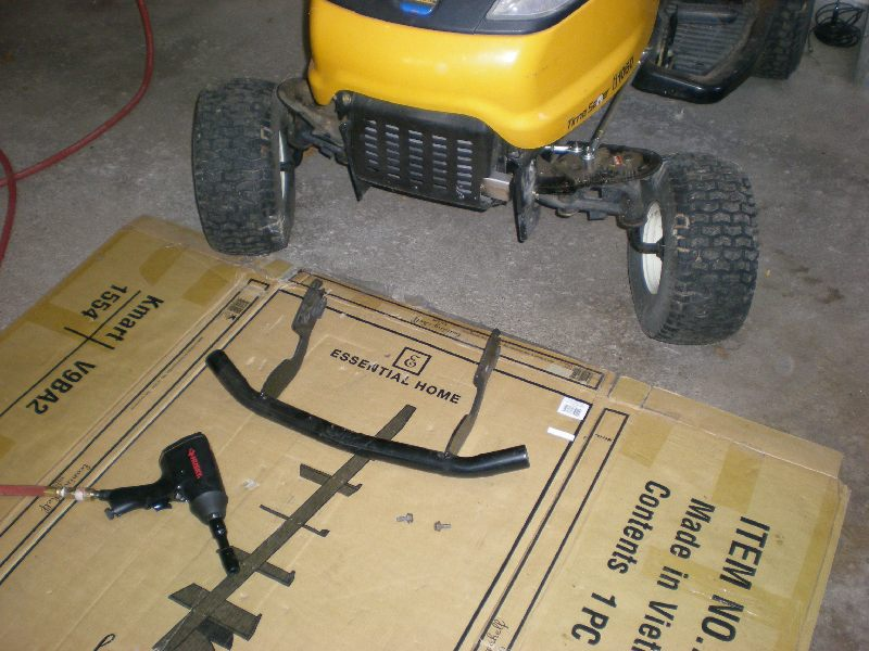 Mtd Tractor Bumper : Attaching arnold mtd dozer blade to cub ztt i