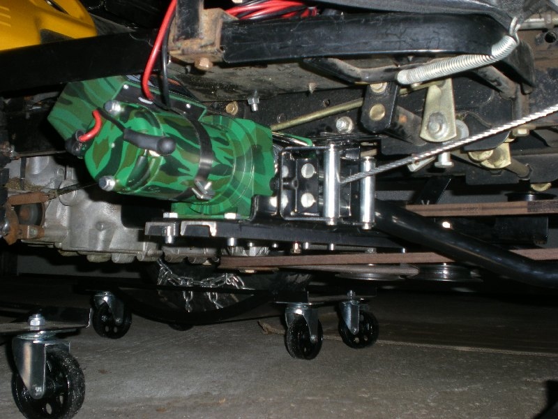 Rear Mount Winch Or Actuator For Snowblower Electric Lift