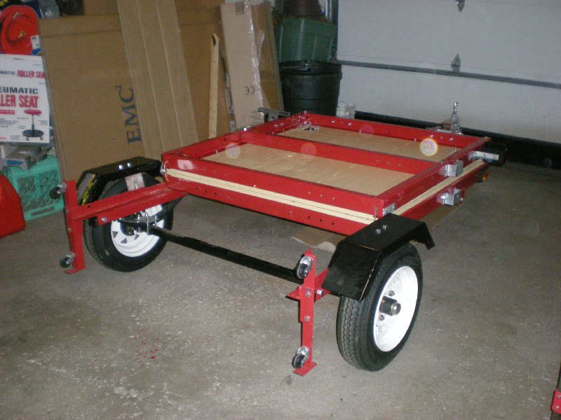 75 folded folding 4x8 flatbed assembly [pics] mytractorforum com the harbor freight folding trailer wiring diagram at soozxer.org